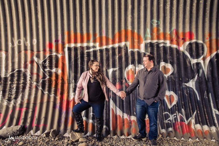 Bre and Joey's #Engagement Session at an Abandoned Tunnel. #EngagementPhotos by Calgary Engagement Photographers JM Photography © 2018 http://www.JMstudios.ca #JMweddings #JMstudios #JMphotography #EngagementPhotography #EngagementPhotos