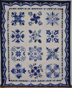 Love this blue & white quilt