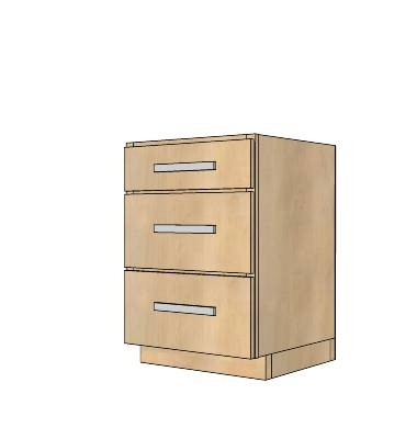 Kitchen Cabinet Base 24 Drawer Full Overlay Face Frame By Ana 3D