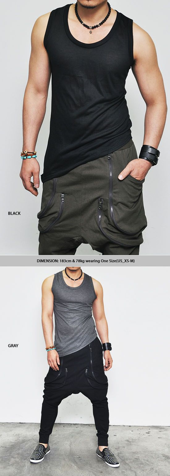 Tops :: Tanks :: Special Must Unbalance Silket Tank-Tank 17 - Mens Fashion Clothing For An Attractive Guy Look