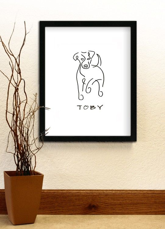Buddy - Jack Russell - Personalized Line Drawing