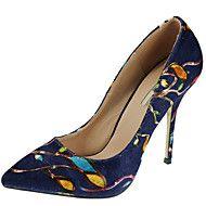 Mujer-Tacón+Stiletto-Tacones+/+PuntiagudosCasual+/+Fiesta+y+Noche+/+Vestido-Tejido-Azul+/+Blanco+/+Azul+Real+–+EUR+€+67.23