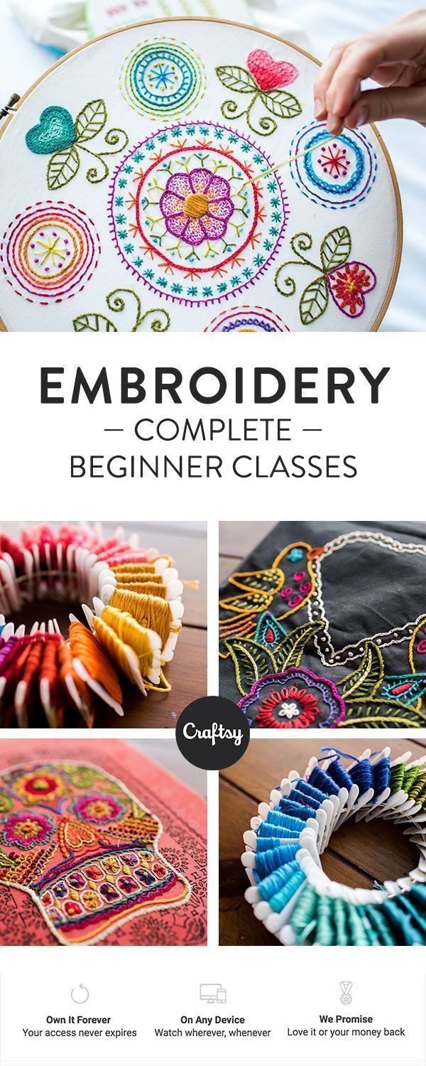 Learn how to embroider with our online beginner class.