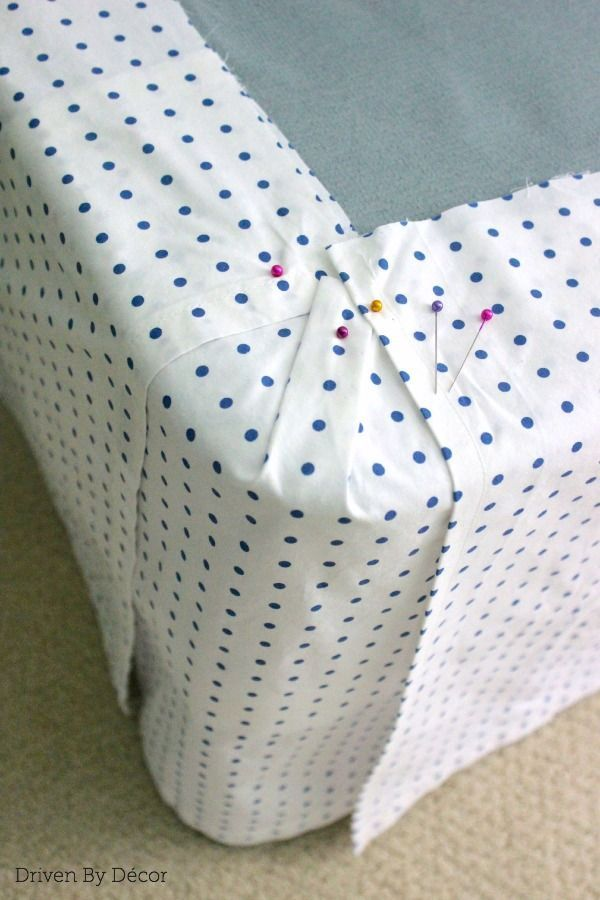 Simple DIY: Make a Bed Skirt From a Flat Sheet - I'll never buy a bed skirt again!!