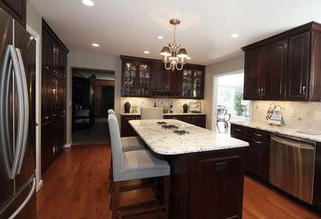 Dark Cabinet Kitchen Design, Pictures, Remodel, Decor and Ideas - page 3