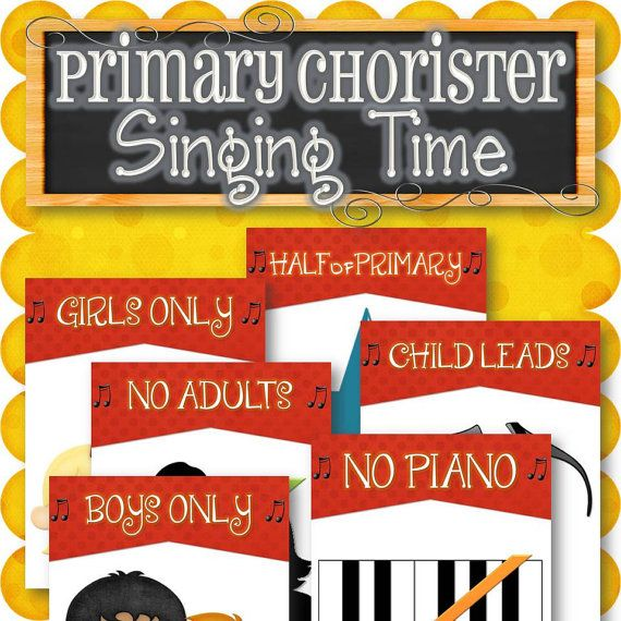Primary Chorister Singing Time for Fun and Reverent by TimeSavors