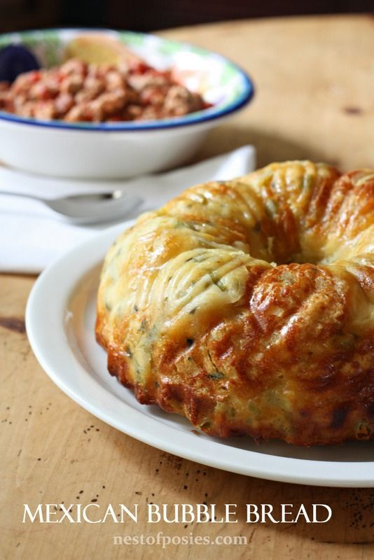 Mexican Bubble Bread - perfect combo with chili
