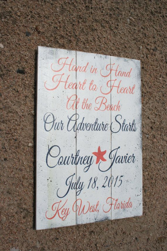 Beach Wedding Sign Destination Wedding Sign by RusticlyInspired