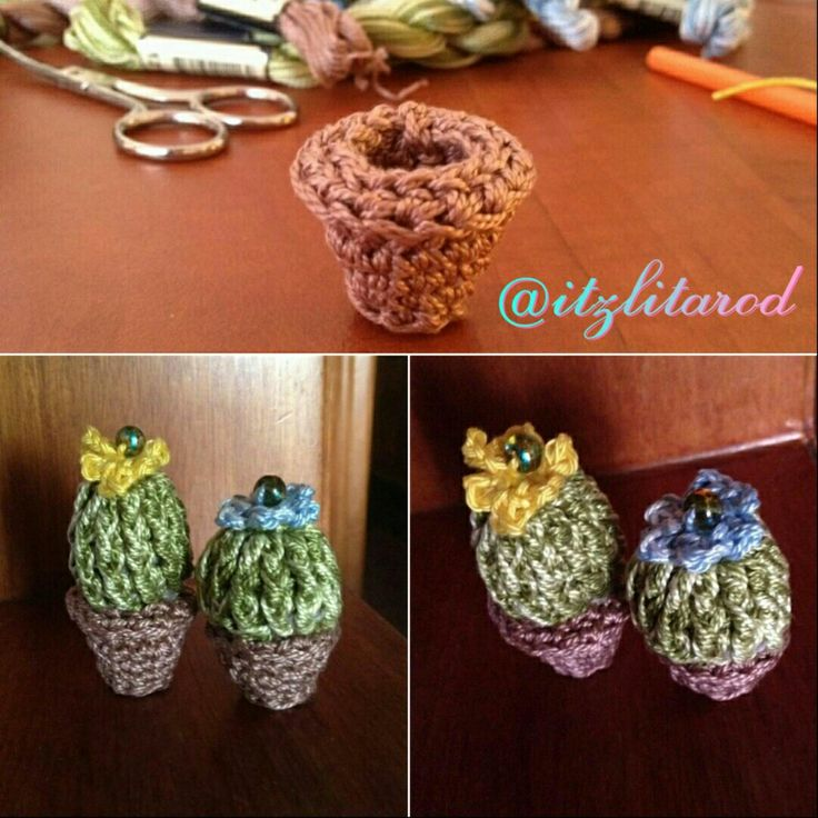 Crochet Cactus! My 30th wedding in-laws anniversary! They came out so cute  by @itzlitarod