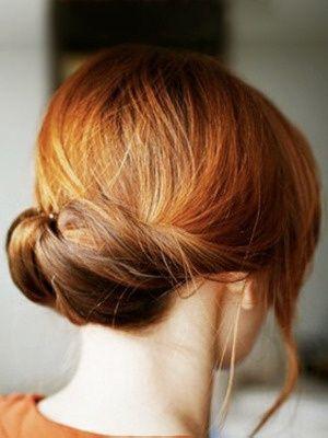 Elegant Updo for Mid-length Hair
