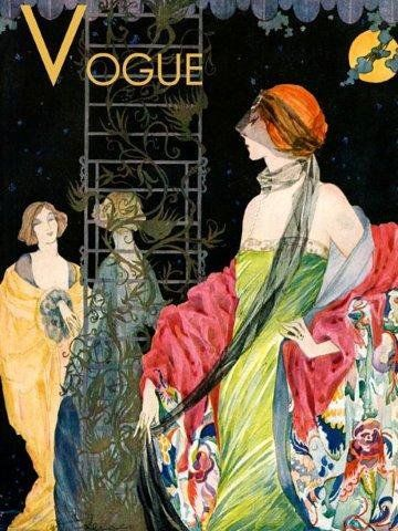 Fashion Lady Ladies Dress Moon Night Beautiful VOGUE Poster 12 X 16 Image Size Vintage Poster Repro on Matte Paper by Heritage Posters, http://www.amazon.com/dp/B006Q9GZAS/ref=cm_sw_r_pi_dp_sPcyrb15ZVRFS