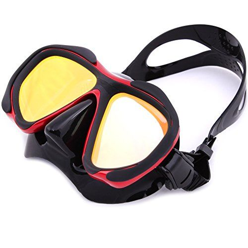 Diving Goggles - Mask Anti Fog & Anti Leak - for Women & Men Kids & Adults - Best Grade Silicone for Free Diving/Swimming/Outdoors/Water Sports - Red & Black (Red) - http://scuba.megainfohouse.com/diving-goggles-mask-anti-fog-anti-leak-for-women-men-kids-adults-best-grade-silicone-for-free-diving-swimming-outdoors-water-sports-red-black-red/