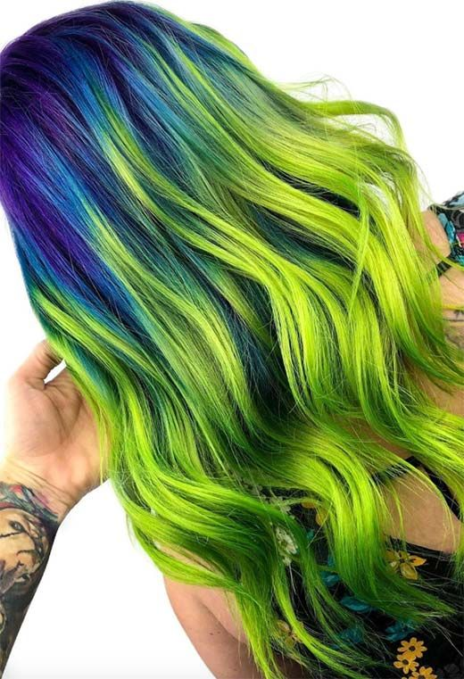 63 Offbeat Green Hair Color Ideas Green Hair Dye Kits To Go