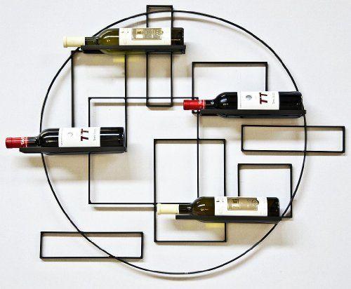 "Wine rack Pi4 Bottle holder made from metal 90cm Bottle holder Wall-mounted Shelf by DanDiBo Ambiente: Casier à vin ""Pi4""en métal forgé -…"