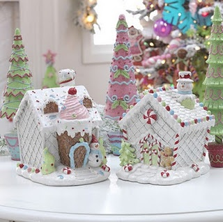 Gingerbread houses ~ I love the idea of making a village of gingerbread houses with trees.