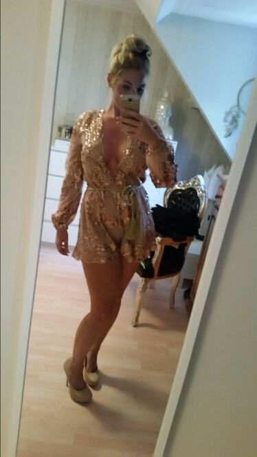 #WithChic #chicoftheday, Simple Cheap Chic, Shop Gold Sequin Plunging V-neck Long Sleeves Playsuit online.
