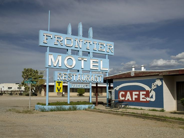 Frontier Motel, Truxton, Arizona. Photo, May 3, 2009 by Carol M. Highsmith. Carol M. Highsmith's America, Library of Congress, Prints and Photographs Division.