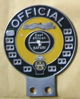 East African Safari Rally Officials Badge 1964 (Interesting story of this badge's history  http://www.xrv.org.uk/forums/sale-wanted/80851-africa-bumper-badges.html)