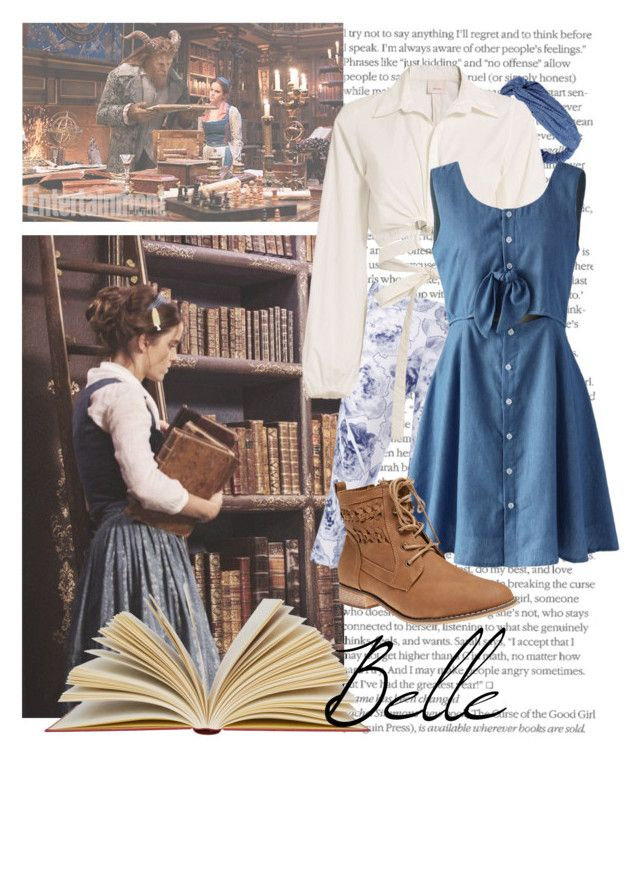"""Belle"" by karlynedc ❤ liked on Polyvore featuring Emma Watson, adidas, Cinq à Sept, Chicwish, Wet Seal, disney, belle, disneybound and BeautyandtheBeast"
