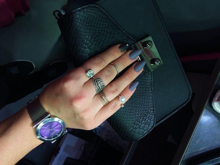 дизайн ногтей часы