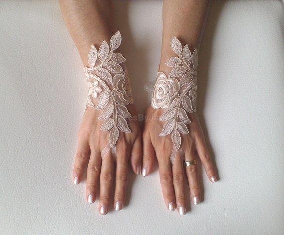 Guanti senza dita pizzo da sposa guanti guanti da di GlovesByJana