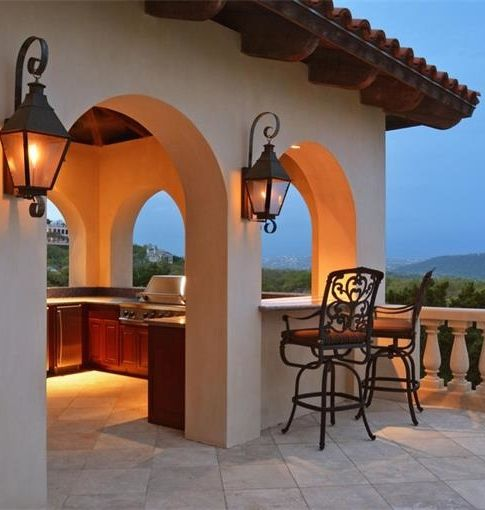 134 best house color schemes images on pinterest spanish for Spanish style outdoor kitchen