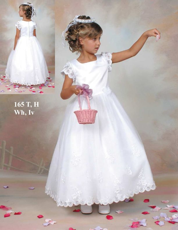 Wholesale Cheap Glamorous White Hottest Best Sell Square Neckline First Communion Dress (BSFCD-005)