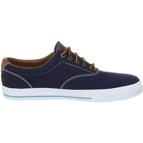 Polo Ralph Lauren Men's Vaughn Canvas/Leather Lace up casual (46 SGD) ❤ liked on Polyvore featuring men's fashion, men's shoes, mens wide shoes, mens wide width shoes, mens shoes, mens canvas shoes and mens canvas oxford shoes