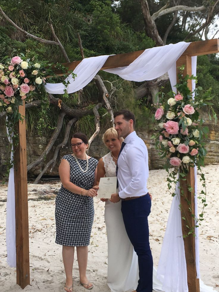 This wedding was on Blenheim Beach, Vincentia, NSW. This couple lovingly enjoyed & made the most of every moment their ceremony in love.