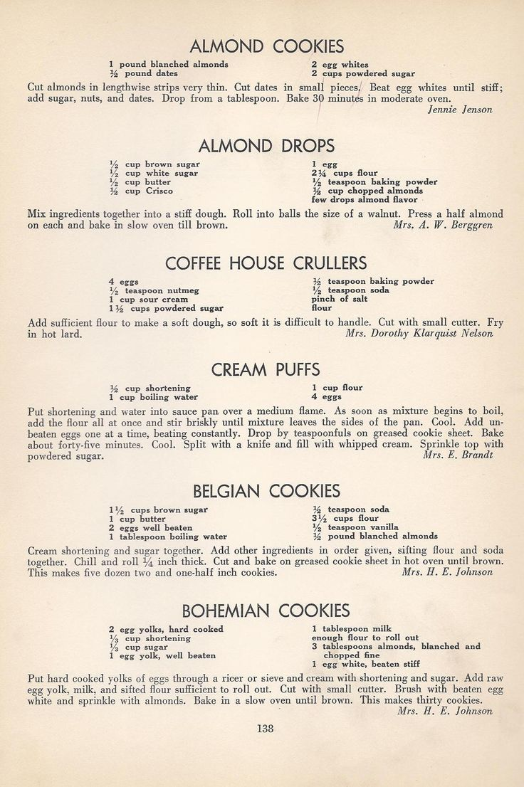Vintage Cookies Recipes From 1940 2-19