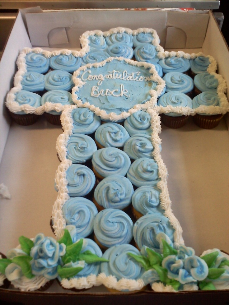 baptism cupcake cross first communion Pinterest ...