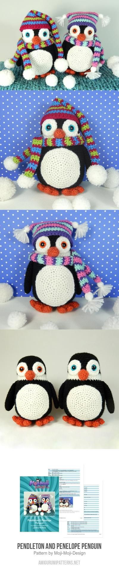 Pendleton and Penelope Penguin amigurumi pattern