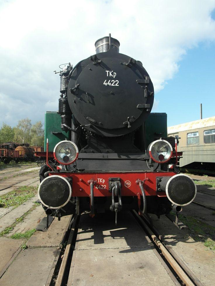 Lokomotywa parowa TKp 4422 w skansenie w Pyskowicach TKp 4422 steam locomotive in railway skansen in Pyskowice, Poland
