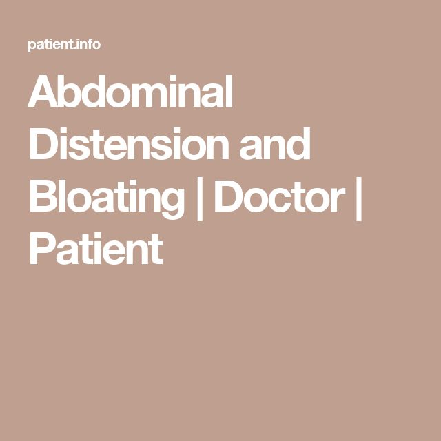 Abdominal Distension and Bloating | Doctor | Patient