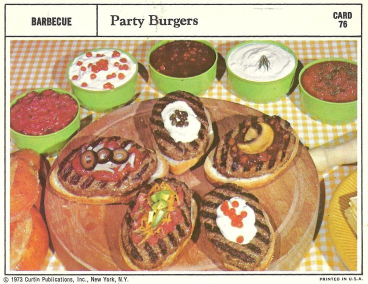 Bad and Ugly of Retro Food: party burgers