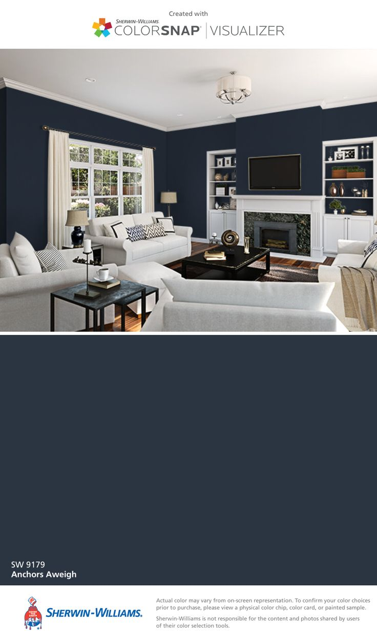 I Found This Color With Colorsnap Visualizer For Iphone By Sherwin Williams Anchors Aweigh Sw