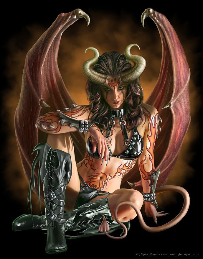 87 Best Female Demon Images On Pinterest Fantasy Demon
