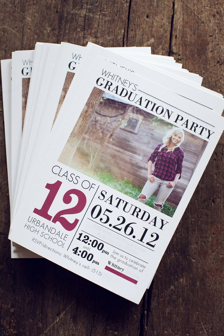 graduation party invitation templates for word%0A Senior Graduation Announcement Template by Jamie Schultz Designs Billboard Grad  Card Collection