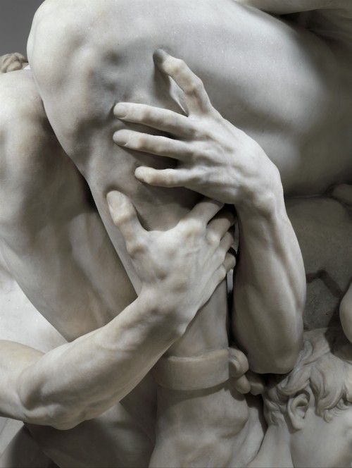 Attention to detail is stunning.    A partial view of Ugolino and his Sons, by Jean-Baptiste Carpeux