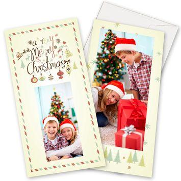 Postales Navidad 18X9,5cm, 2 caras, vertical  #dpbook #christmas #navidad
