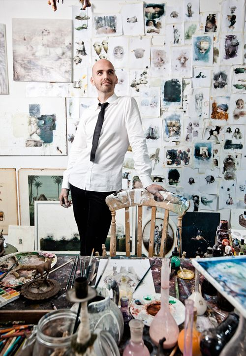 Chris Berens I love viewing people standing in their studios & seeing how their body language and characteristics are portrayed through their environment