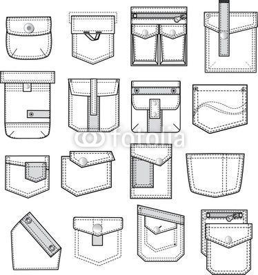 pocket outlines for fashion design - vma.