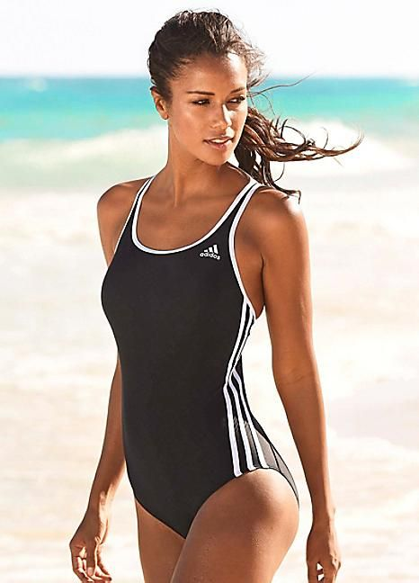 adidas Performance Black Sports Swimsuit