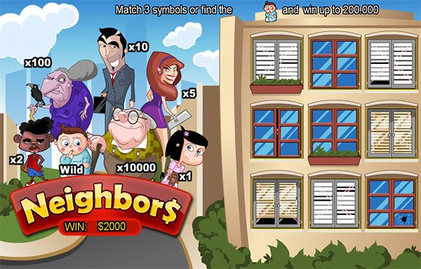 Here is a fun and very easy #game by #Neogames that any online player will be able to enjoy, instant game Neighbours. Just match three symbols on instant game Neighbours with Mrmega.com to win or find the adorable little baby and #win.
