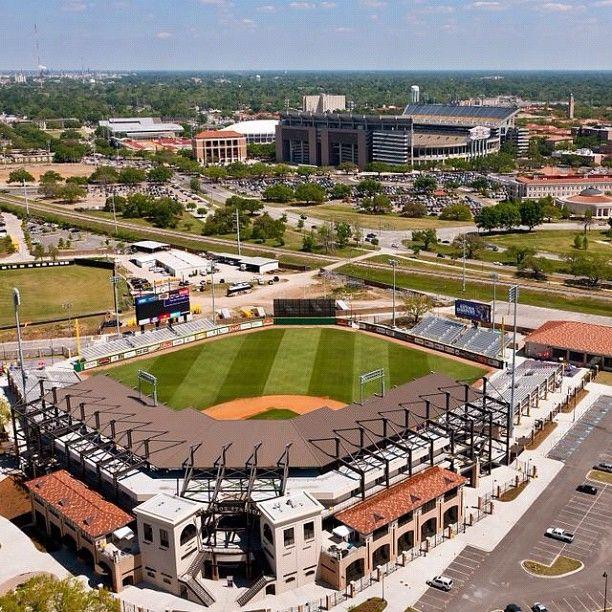Alex Box Stadium at LSU...Tiger Stadium in the distance...