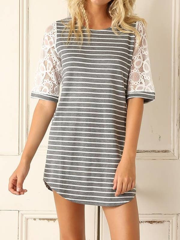 Camiseta Vestido Listrada - Compre Online | DMS Boutique