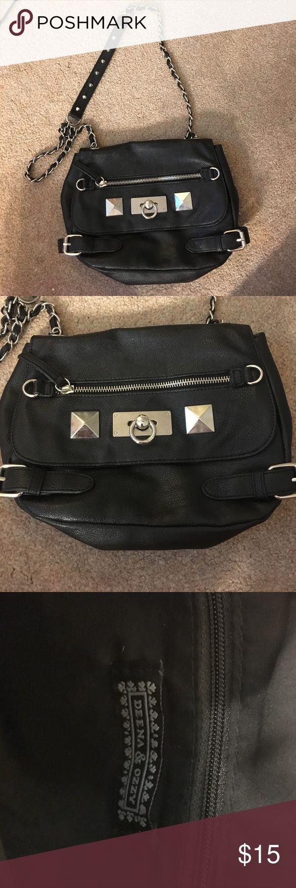 Deena & Ozzy goth bondage style purse Excellent condition. Used twice. Very cute bag. Deena & Ozzy Bags Crossbody Bags