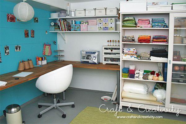 New craft studio - WIP by Craft & Creativity, via Flickr #craftstudiocraftroomideas