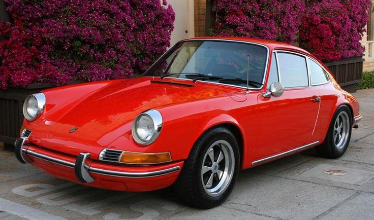 1969 Porsche 912 in Tangerine, Fuchs Rims