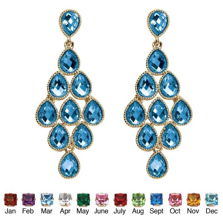 Birthstone Chandelier Earrings